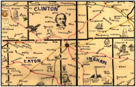 Galbraith's railway mail service maps, Michigan.