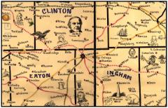 Galbraith's railway mail service maps, Michigan.