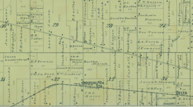 1896 Partial Clinton County Map